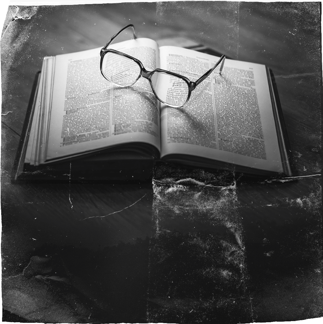 Reading Glasses on top of the Bible